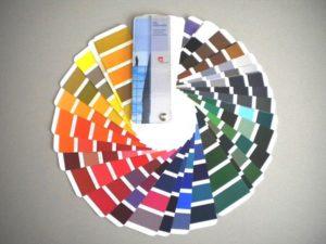 Farbgruppeneinteilung für Pulverbeschichtung